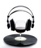 Vinyle en verre de vin Photo libre de droits