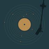 Vinyle et système solaire Photographie stock