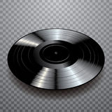Vinyle noir noir Photo stock