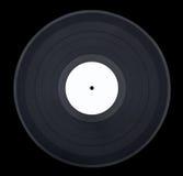 Vinyle noir sur le noir Photographie stock