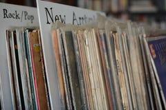 Vinyle sur le plein affichage sur le support photographie stock libre de droits