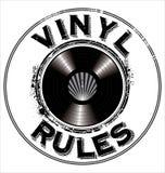 Vinylen rules bakgrund Arkivfoto