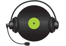 Vinylkopfhörer Lizenzfreie Stockbilder