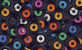 Vinylmusik antecknar bakgrund Royaltyfri Fotografi