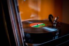 Vinylmusikhobby arkivbild