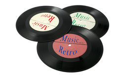 Vinylplatten auf einem weißen Hintergrund Stockfoto