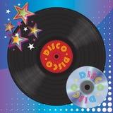 Vinylplatten-und Digital-Laserscheibe Stockfotos