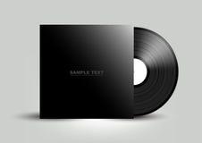 Vinylräkning på vit väggbakgrund, vektor Arkivbild