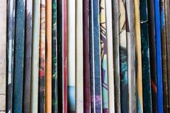 Vinylrecord verpakking in verticaal Stock Fotografie