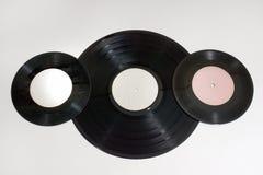 Vinylrekord av olika format Royaltyfria Foton