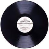 Vinylrekord, främre sikt Royaltyfria Bilder