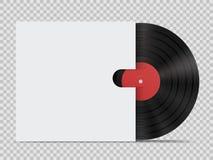 Vinylrekord med räkningen i realistisk stil royaltyfri illustrationer