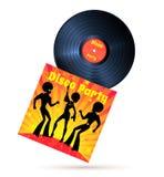 Vinylrekord och räkning Arkivbild