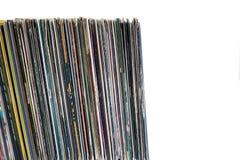 Vinylrekord på en vit bakgrund Arkivfoton
