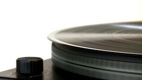 Vinylrekord på skivtallrik lager videofilmer