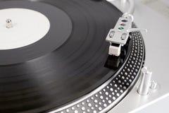 Vinylrekord på spelaren Royaltyfria Bilder