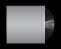 Vinylrekord på svart bakgrund Illustration för EPS 10 Royaltyfria Bilder