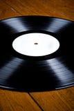 Vinylrekord på trädurk, Arkivbilder