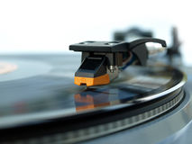 Vinylrekordspielerstiftabschluß herauf Sonderkommandobild Stockbild