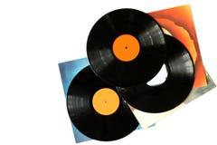 Vinylsätze Stockfoto