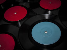 Vinyls dark background Royalty Free Stock Photography