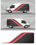 Vinyls & Decals for van, trucks Vehicle Graphics in isolated format. Professional graphics design decal kits for van vehicle and truck Truck and vehicle decal stock illustration