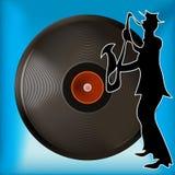 Vinylsatz-Hintergrund Lizenzfreie Stockfotos