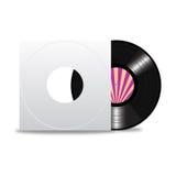 Vinylsatz mit Abdeckung Stockbild