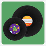 Vinylsatz-Platte Stockfoto