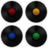Vinylsatzgruppe Stockbilder