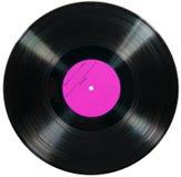 Vinylschijf die op wit wordt geïsoleerd Stock Foto