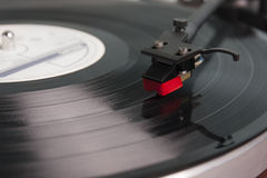 Vinylskivspelare Arkivbild