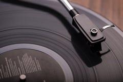 Vinylskivspelare Fotografering för Bildbyråer