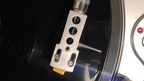 Vinylskivtallrik stock video