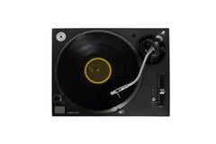 Vinylspieler auf Weiß Lizenzfreies Stockfoto