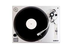 Vinylspieler auf weißem Hintergrund Stockbilder