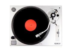 Vinylspieler auf weißem Hintergrund Stockfoto
