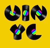 Vinyltext Lizenzfreie Stockbilder
