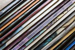 Vinylverslag in het pakket diagonaal Royalty-vrije Stock Foto's