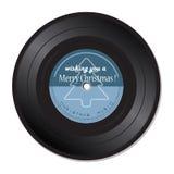 Vinylverslag met Kerstmismuziek Stock Fotografie