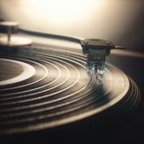 Vinylverslag Retro Wijnoogst Royalty-vrije Stock Afbeelding