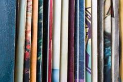 Vinylverslag verpakking in verticaal Royalty-vrije Stock Foto's