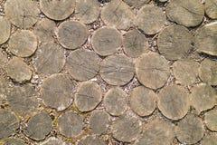 Vio los registros, material natural para el piso de adornamiento rústico Fotografía de archivo libre de regalías
