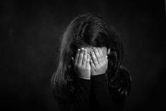 Violência das crianças imagem de stock royalty free