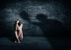 Violência de encontro às mulheres Imagens de Stock Royalty Free
