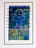 Violência de família Imagens de Stock Royalty Free