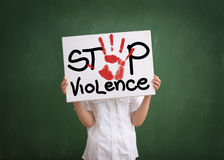 A violência deve ser parada fotografia de stock royalty free
