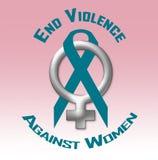 Violência do fim contra o cartaz das mulheres ilustração stock