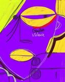 Violência do gênero contra mulheres Ilustração ilustração do vetor