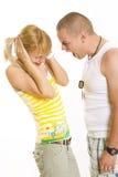 Violência doméstica Imagem de Stock Royalty Free